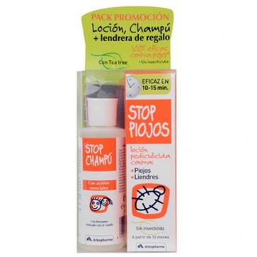 Stop Piojos Pack (Loción + Champú + Lendrera) - tratamiento para piojos y liendres