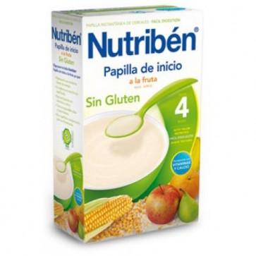 Nutribén Papilla Inicio Fruta 300 gr Sin Gluten - Bebés +4 meses