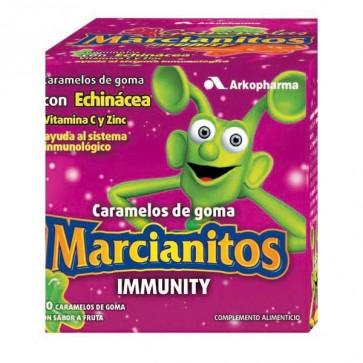 Marcianitos Immunity - 60 Caramelos de goma con Echinacea, Vitamina C y Zinc