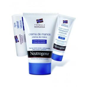 Neutrogena Crema de Manos Concentrada + Locion Corporal + Protector Labia - Hidratacion, Manos Secas
