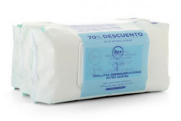 Pack Be+ Pediatrics Toallitas Dermolimpiadoras Extra Suaves 3 Envases x 72 Unidades