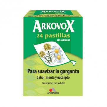 Arkovox Pastillas sabor menta-eucalipto - caramelos para la garganta