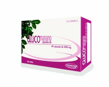 Homeosor Glucomanano 400 mg 48 Cápsulas