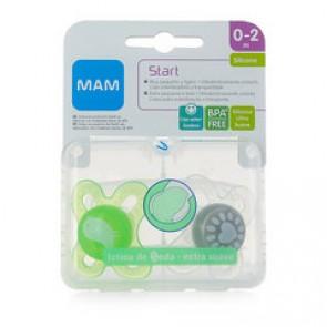 Chupete Silicona Extra Pequeño MAM Start Pack Doble + Caja Esterilizadora - Chupete Especial para Bebés Recién Nacidos