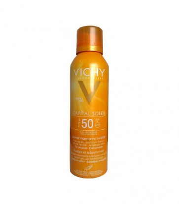 Capital Soleil SPF 50 Hydra Mist Spray 200 ML - Protección Solar Invisible, Pieles Sensibles