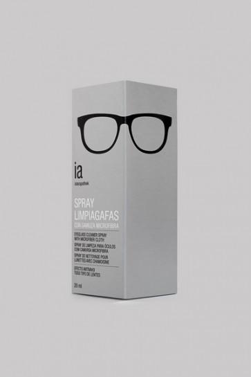 Spray Limpiagafas 20 ml con Gamuza de Interapothek - Sin Alcohol para Todo Tipo de Lentes Ópticas
