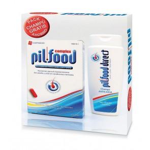 Pack Anticaída Pilfood Complex Cabellos y Uñas 120 Comprimidos + Regalo de Champú Anticaída 200 ml