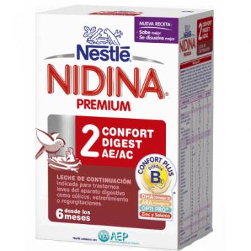 Nestlé Nidina 2 Confort 750 gr - Estreñimiento bebe
