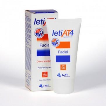 Leti At 4 Crema Facial SPF 20 50 ml - Protección Solar Bebés y Niños, Pieles Atópicas