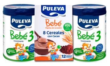 Pack Puleva Bebé 3 Leche 2 x 800 gr + 8 Cereales con Cacao 500 gr de regalo