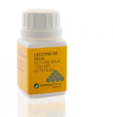 Lecitina de Soja 1200mg 45 perlas de Botanicapharma - Disminuye el Colesterol y mejora el Rendimiento Intelectual (Fósforo, Inositol, Fosfatidilcolina)