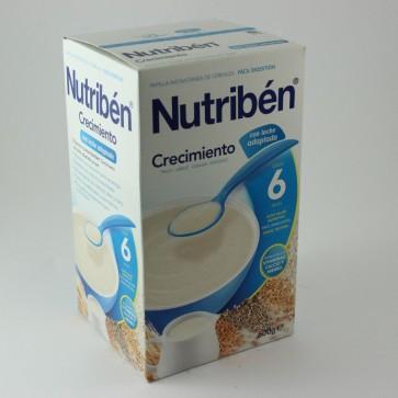 Papilla Nutribén Crecimiento Con Leche Adaptada 600 gr +6 meses - Papilla Mezclada con Leche