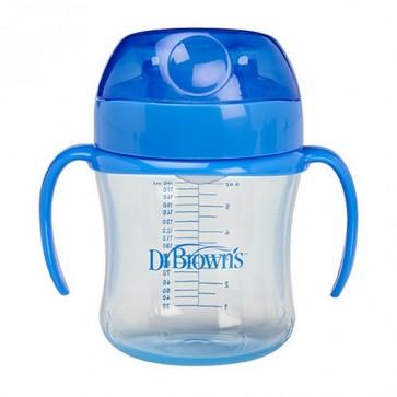 Vaso de Transición Dr Brown's de 180 ml para +6 Meses - Antiderrame con Boquillan Suave