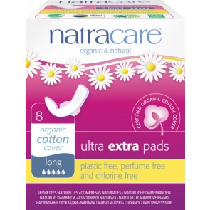 Compresa Ultra Extra Larga Natracare 8 Unidades