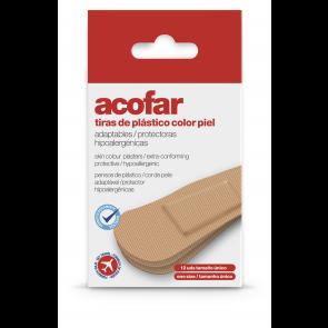Acofar TIRAS de plastico color piel viaje 12 unidades - adhesivo, heridas