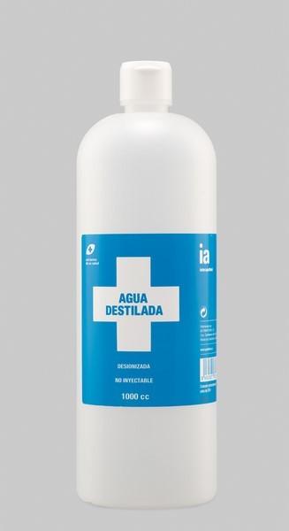 Agua Destilada 1 Litro de Interapothek - Pura Sin Minerales No Inyectable