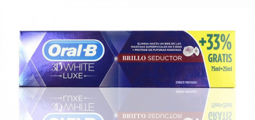 Oral-B 3D White Brillo Seductor Bonus Pack 75 ml + 25 ml