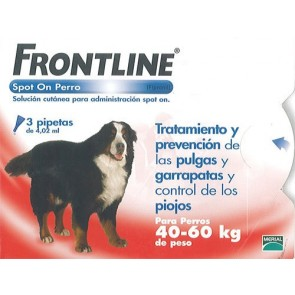 Frontline Spot On Perros 40-60 Kg 3 Pipetas