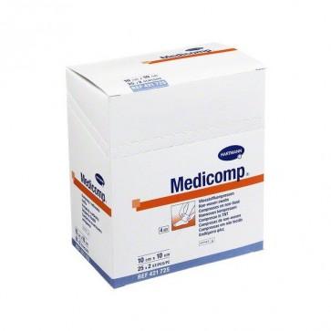 Medicomp Compresas Non Woven Apósito Estéril 10 x 20 cm 25 sobres 2 uds - Cura del Ombligo del Bebé Tratamiento de Heridas