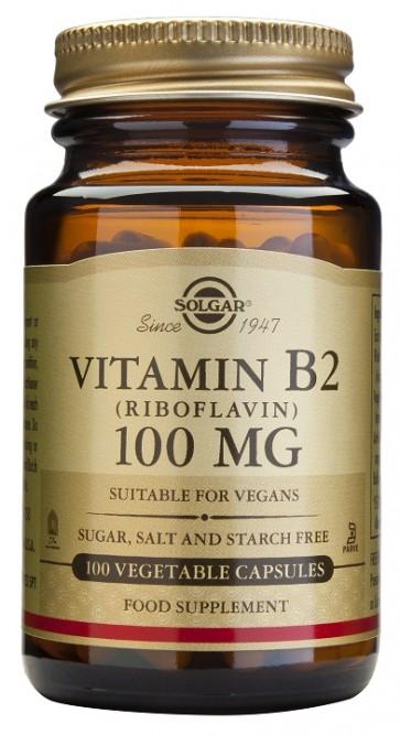 Vitamina B2 100 mg 100 comprimidos (Riboflavina) Solgar