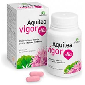 Aquilea Vigor Ella 60 Cápsulas - maca andina, Rodiola, Ginkgo, Ácido fólico