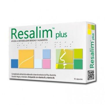 Resalim Plus 10 cápsulas - piña, alcachofa, vitaminas, resaca