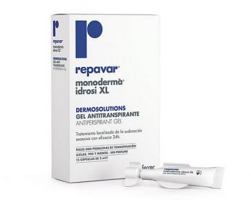 Repavar Monoderma Idrosi Xl Gel Antitranspirante 15 cápsulas x 2 ml - Cara, Pies, Manos, Axilas