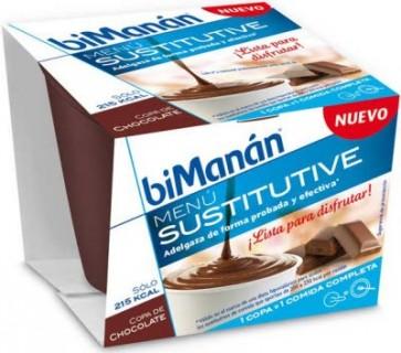 Bimanán Sustitutive Copa Chocolate Individual - Bajo en Calorías, Sustituye la Comida o la Cena