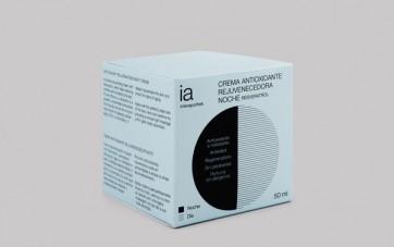 Crema 50ml Antioxidante y Rejuvenecedora para Noche de Interapothek - Antiedad Nutrición para Rostro Cuello y Escote