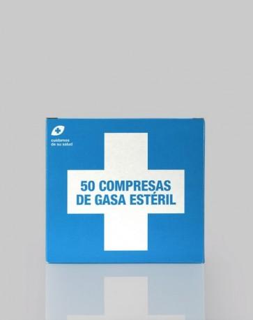 Gasa Estéril 50 Compresas de Interapothek - Muy Suaves y de Alta Absorción