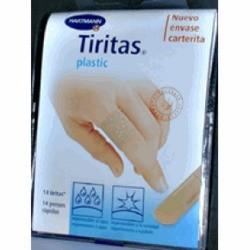 Tiritas Plastic Carterita 14 Unidades - Tiritas Precortadas, Hipoalergénicas, Impermeables