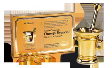 ActiveComplex Omega esencial 60 Capsulas - Mejora el funcionamiento del Cerebro, corazón y la visión