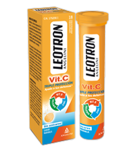 Leotron Vitamina C 18 Comp. Efervescentes - Sin Azúcar, Sabor Naranja