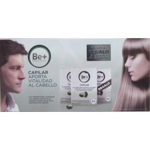 Pack Be+ Capilar Aporta Vitalidad al Cabello 30 Comprimidos por Envase - Tratamiento de 3 meses con Vitamina B6