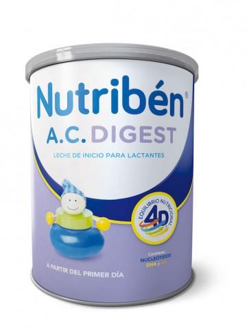 Nutribén AC Digest 800Gr - Leche de Inicio para Lactantes Disminuye los Síntomas del Cólico