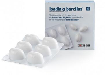 Isadin Alfa Barcilus Probiótico 6 Cápsulas Vaginales - Coadyuvante Infecciones Vaginales
