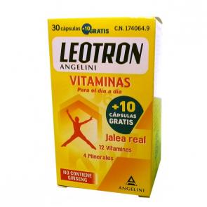 Leotron Vitaminas 30 cápsulas + 10 Gratis - Reducción de Cansancio y Fatiga