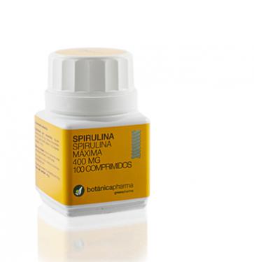 Spirulina 400 mg 100 Comprimidos de BotanicaPharma - Remineralizante, Estimulante, Peristáltico