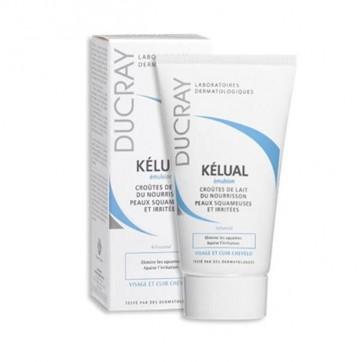 Ducray Kelual Emulsion Costra Lactea 50ml - Elimina Escamas, Alivia Irritaciones y Rojeces