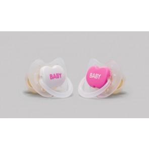 Chupete Anatómico 2 Uds para Bebés 0-6 Meses de Interapothek -Color Rosa- Con Tetina de Látex de Caucho Natural