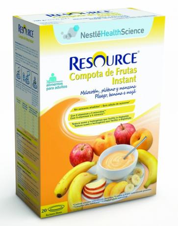 Resource Compota de Frutas Instant Melocotón, Plátano y Manzana 350 gr - Postre, Hidratación