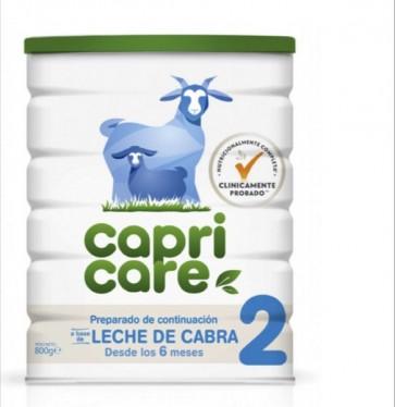 Capricare 2 Leche de Continuación 800gr - Leche de Cabra con Vitaminas y Minerales - A Partir de 6 Meses