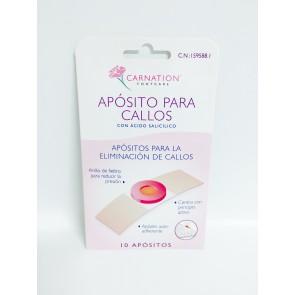 Carnation Aposito Callos Ac. Salic 10 U - Apósito para Callos