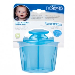 Dispensador Leche Polvo Azul Dr. Brown - Capacidad para 3 Biberones de 250 ml