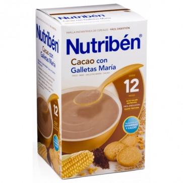 Papilla Nutriben Cacao Con Galletas María 600 G - Papilla para Niños Mayores de 12 meses