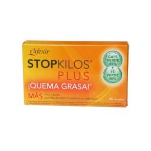 Elifexir Salud StopKilos Plus - Ayuda a Quemar la Grasa para el Control de Peso