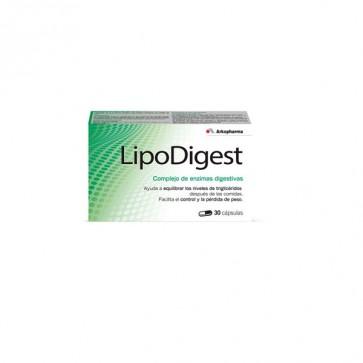 Lipodigest Complejo de Enzimas 30 cáps. - perder peso, dietas de adelgazamiento