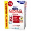 Nidina Premium 2 Leche de Continuación Formato Ahorro 1kg - A Partir de 6 Meses - Ayuda al Sistema Inmunitario y al Desarrollo Cerebral