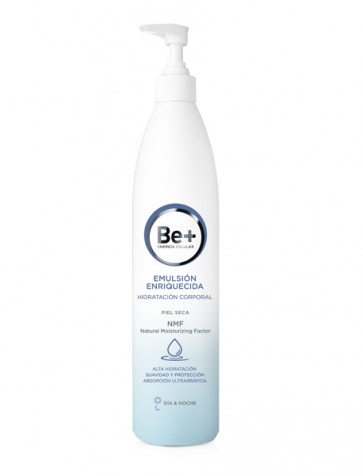 Be+ Emulsión Enriquecida Hidratación Corporal Piel Seca 500ml