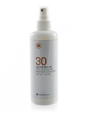 Leche Solar Adulto SFP+30 Spray 250 ml Botanicapharma - Protección Solar Óptima, Evita Quemaduras Solares y Antienvejecimiento